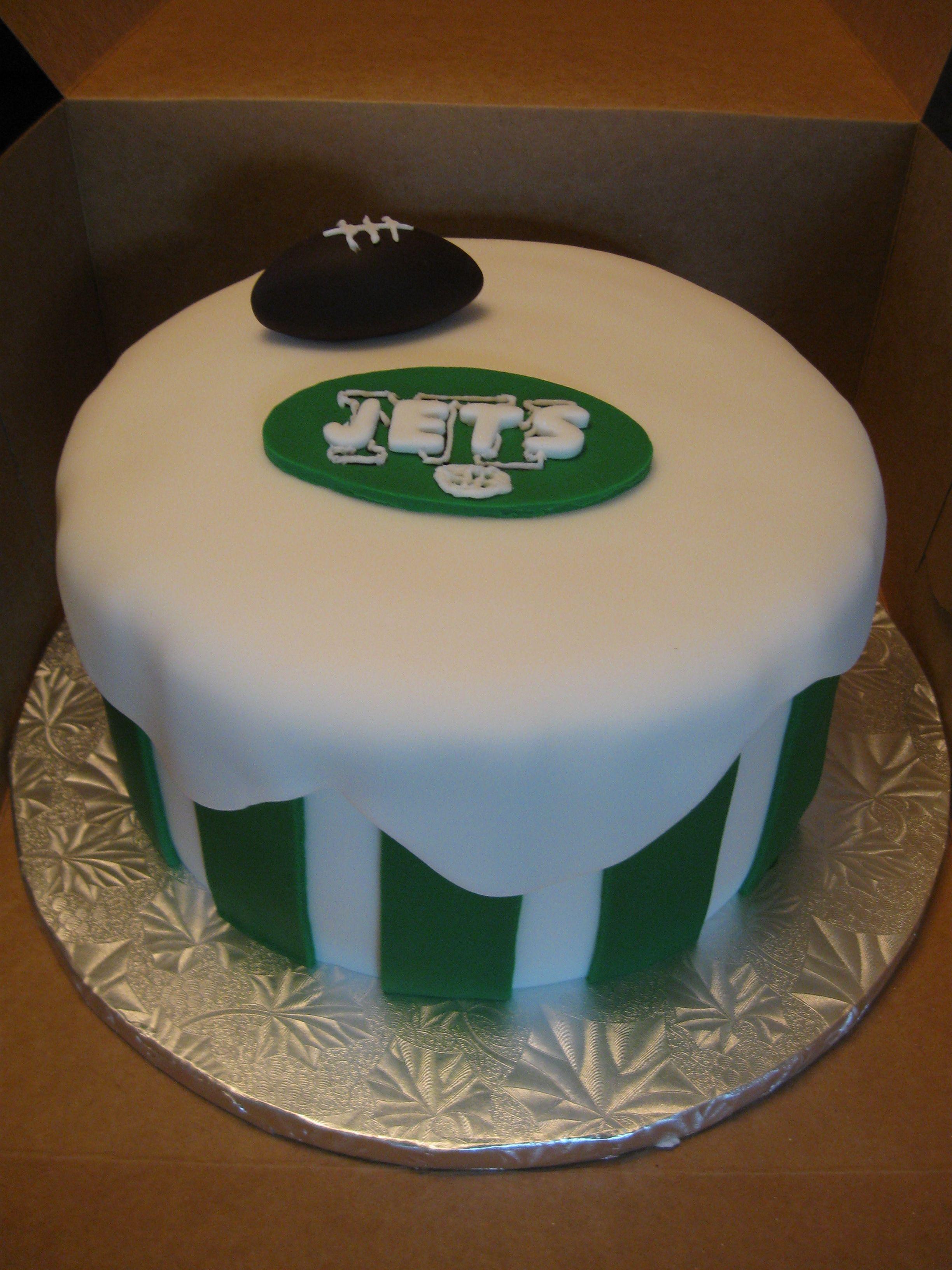 Incredible Nfl Jets Cake Cake No Bake Cake Funny Birthday Cards Online Amentibdeldamsfinfo