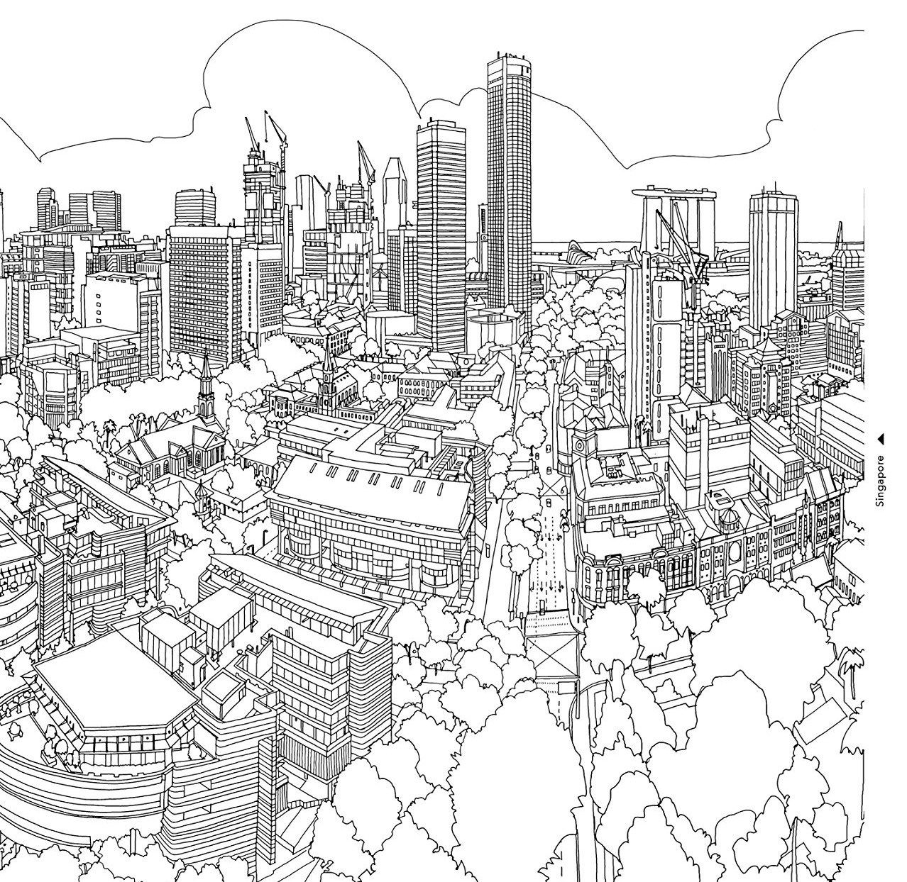 Coloring Books. Architecture Coloring Book - Coloring Books and ...