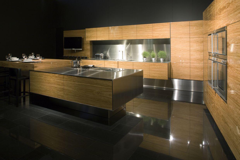 Cuisine en bois moderne et chaleureuse future maison - Decoration cuisine contemporaine ...