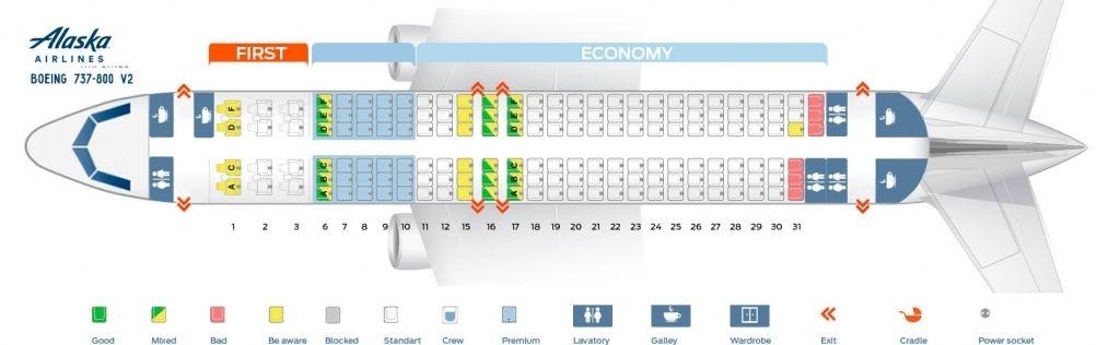 Boeing 737 800 Seating Plan Alaska