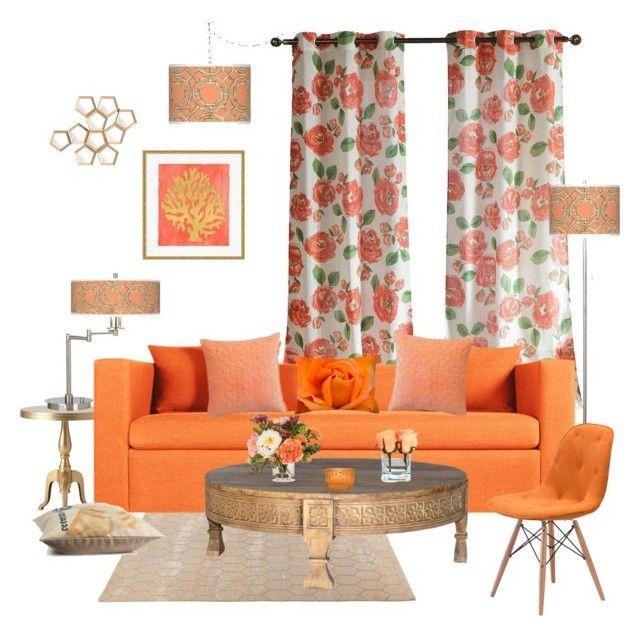 peach living room  hogar