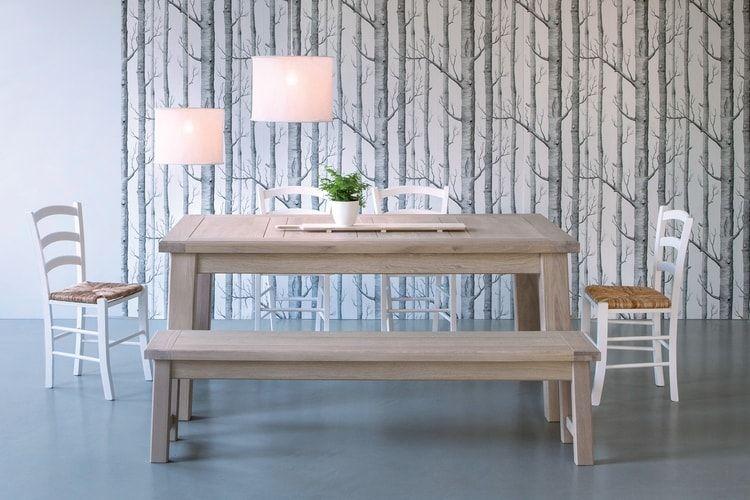 Le banc intégré à la table à manger Salle à manger Pinterest