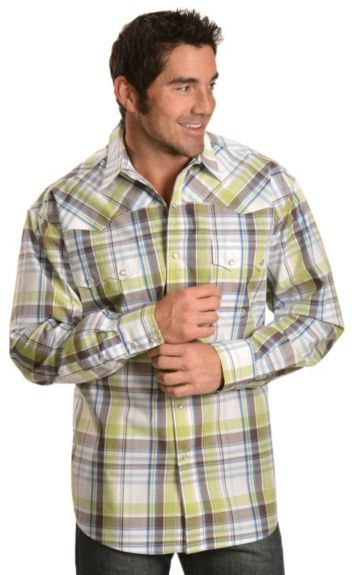 156413d805105 Roper Spring Meadow Plaid Long Sleeve Western Shirt available at  Sheplers