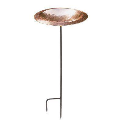Achla Designs Hammered Copper Bird Bath - BBHC-01T-S
