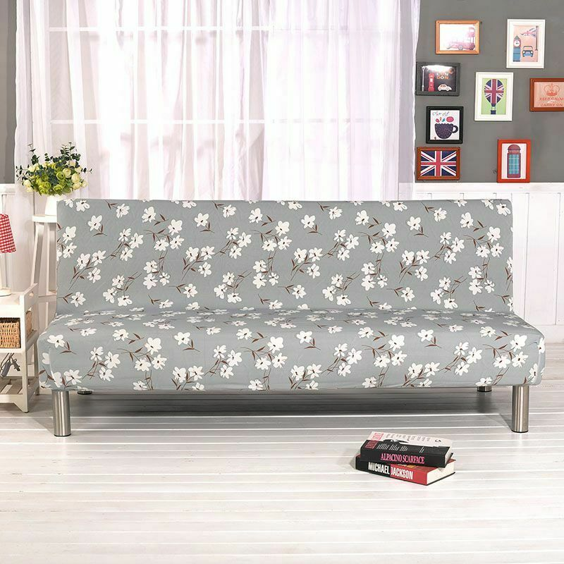 Stretch Elastic Armless Sofa Bed Couch Cover Full Folding