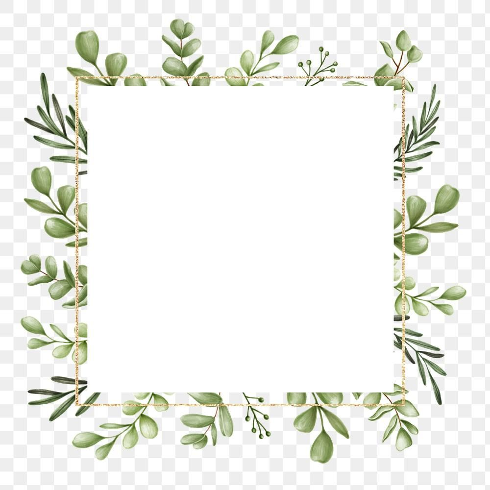 Download Premium Png Of Green Floral Frame Transparent Png By Noon About Border Png Frame Tree And Floral 2 Floral Border Design Green Leaf Background Frame