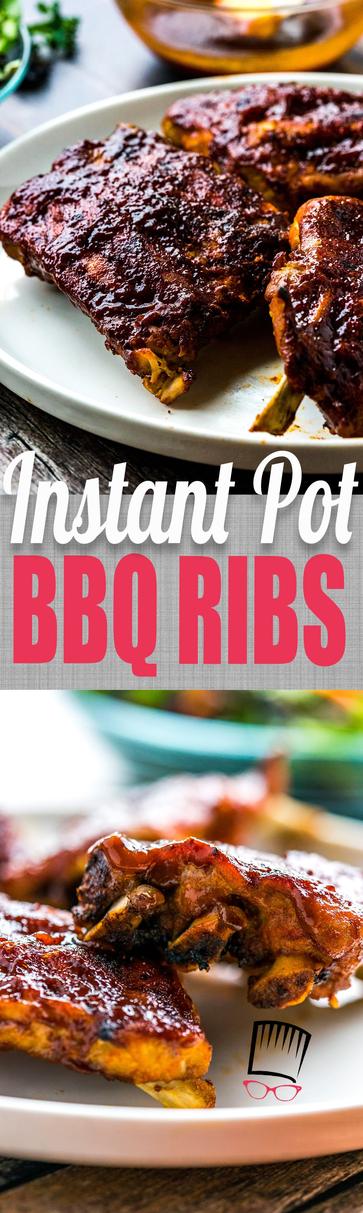 You can make the best, super quick and flavorful BBQ Ribs in the Instant pot! Just make an easy spice rub, cook with some beer until tender and throw under the broiler until nice and caramelized! You need this recipe if you have an Instant Pot! #ribs #bbq #babybackribs #instantpot