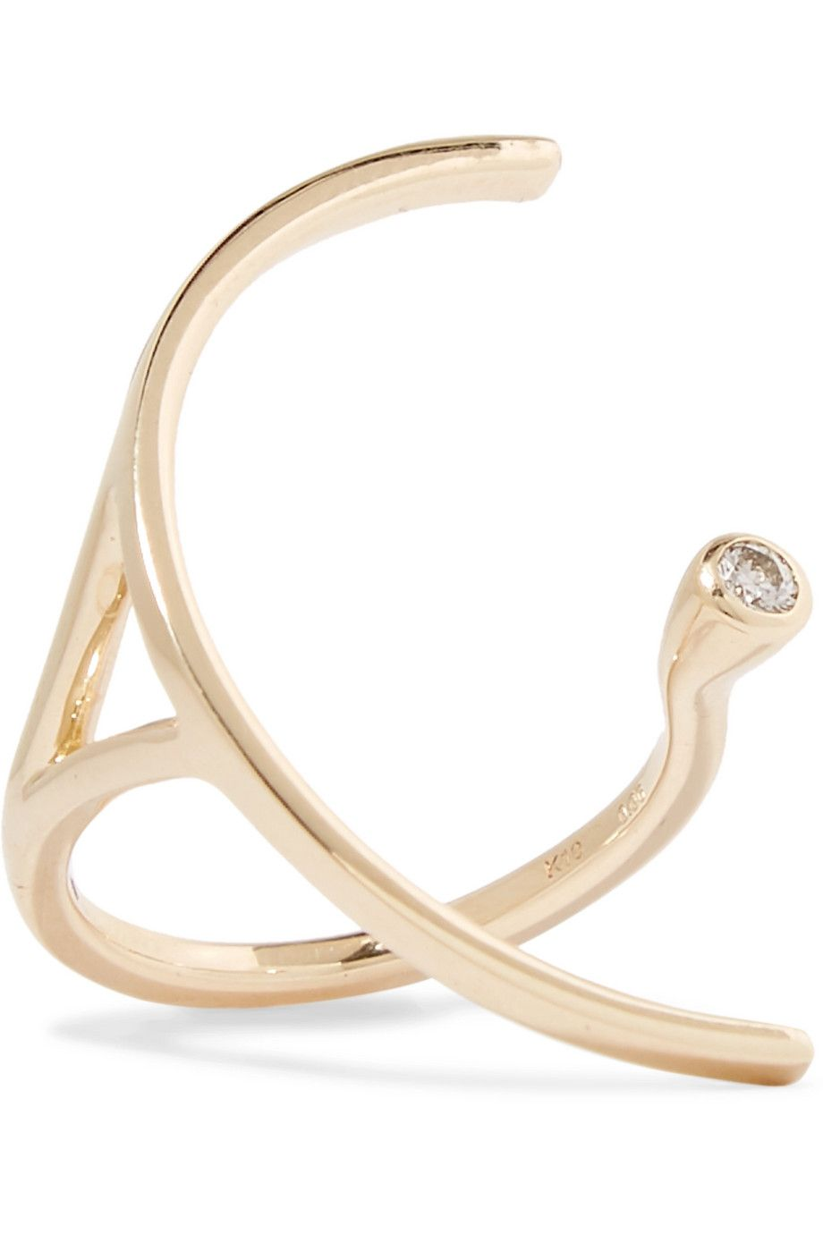 Hirotaka Tree Hopper 10 Karat Gold Diamond Ring Net A Porter Com