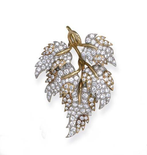 A DIAMOND AND GOLD BROOCH, BY JEAN SCHLUMBERGER, TIFFANY & CO.