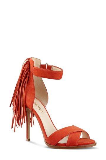 Nine West 'Hustle' Fringe Ankle Strap Sandal (Women)