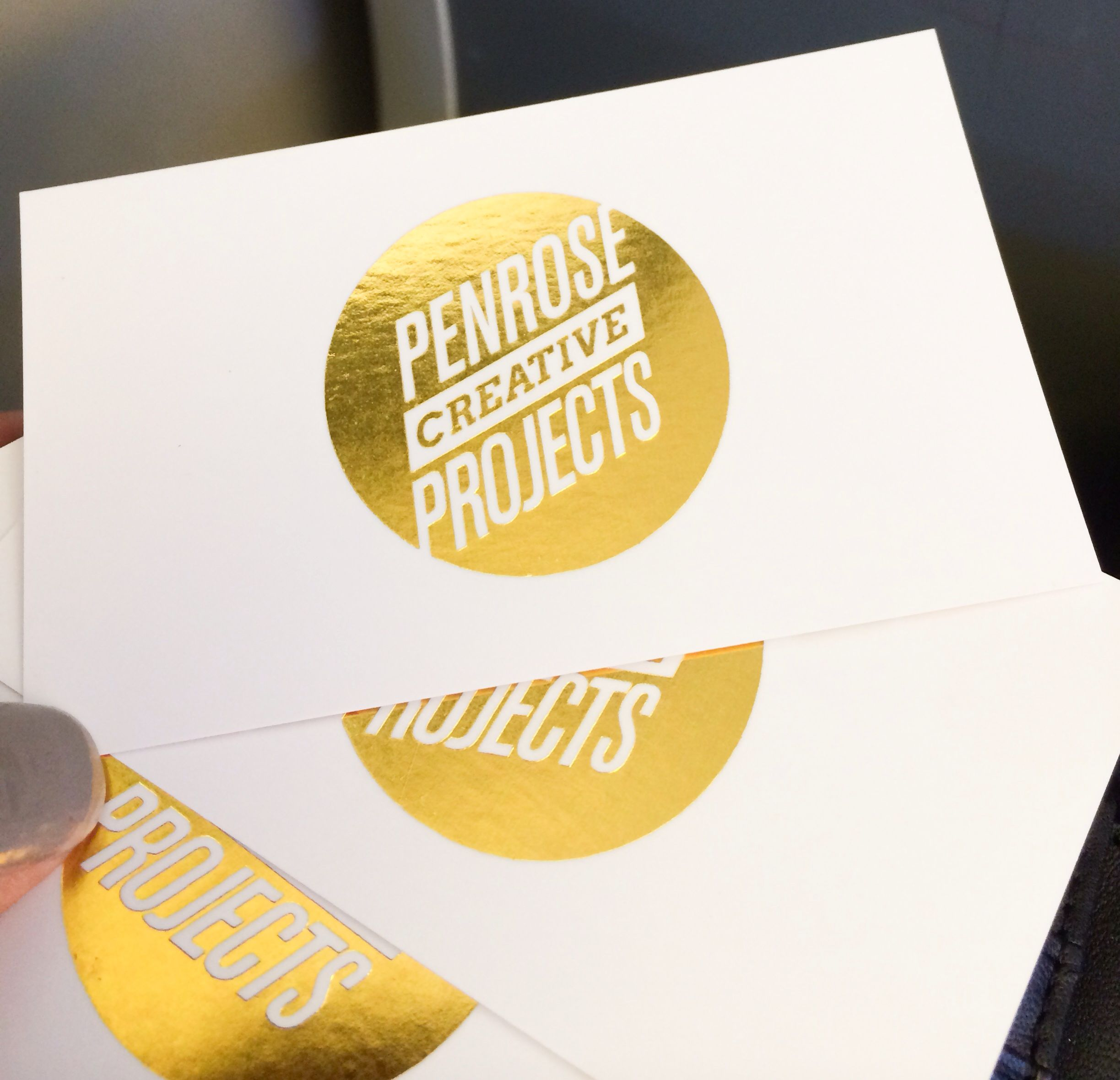 Gold Foil Business Cards with Silk Laminate | Business cards ...