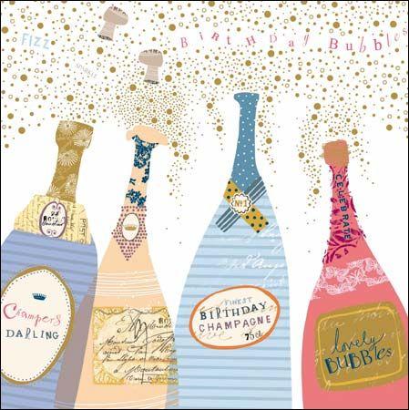 Woodmansterne Pink Contemporary Greeting Card 406836 Birthday Illustration Birthday Cards Happy Birthday Greetings