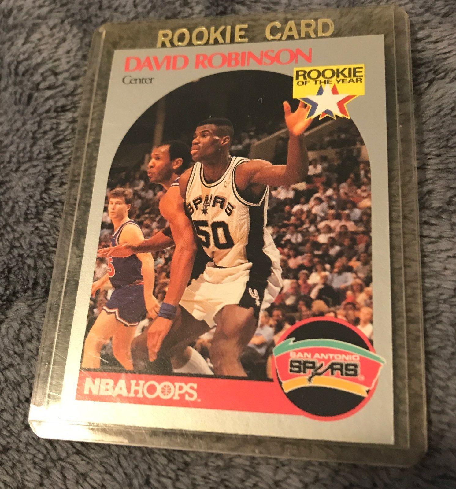 198889 nba hoops basketball david robinson rookie card
