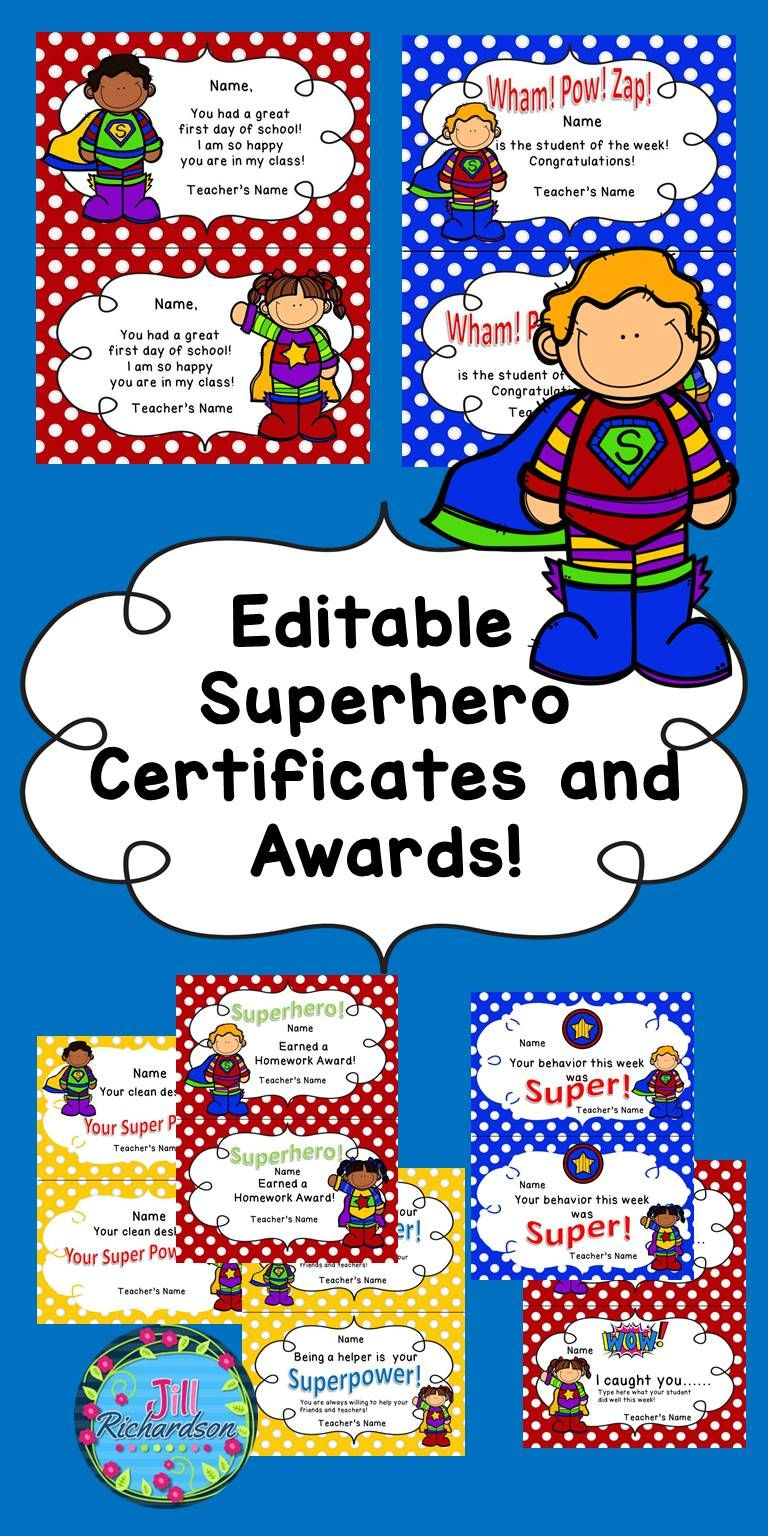 Superhero Certificates Best Design Sertificate 2018