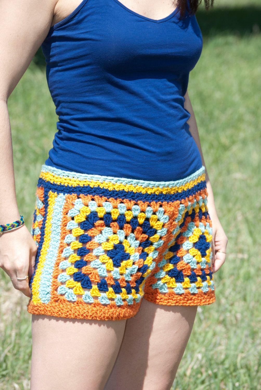 Crochet Shorts Granny Square Shorts 3200 Via Etsy Crochet