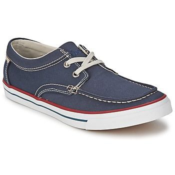 Timberland has created the men's Boat Ox With Striped Rand boat shoe to add a touch of nonchalance to urban style. Simple and refined, they have a blue fabric upper and a fabric lining. The fabric of the insole and rubber on the outer sole make for a  find out This Collection of Best of Designer Fashion Sneakers here http://mylovelyproduct-2.blogspot.com/2014/12/bestofdesignerfashionsneakers.html