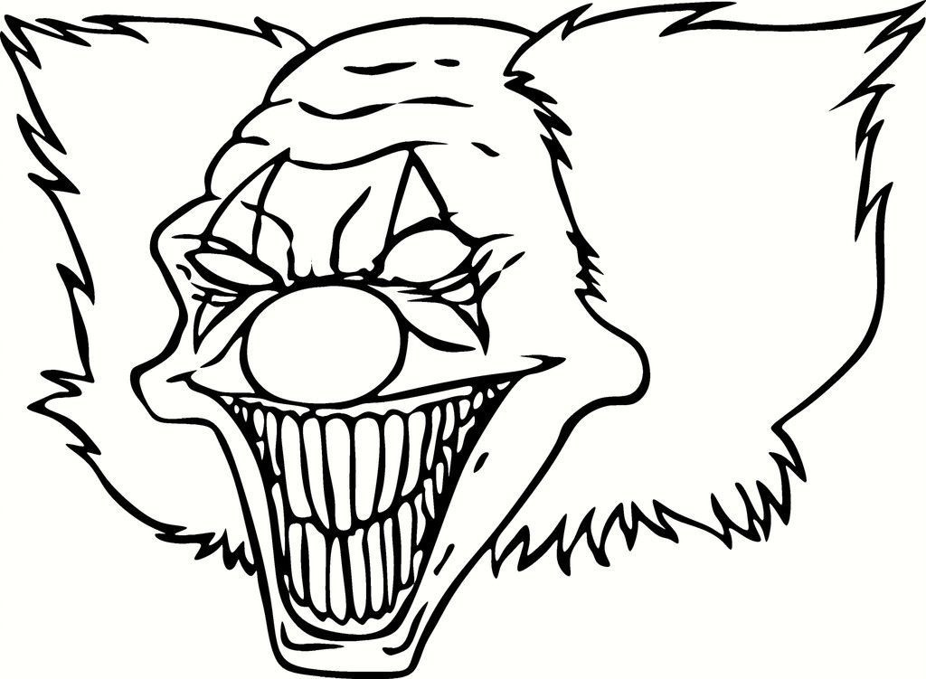 Download Or Print This Amazing Coloring Page Scary Clown Pictures To Color Coloring Pages For Kids And For Scary Clown Drawing Scary Clowns Scary Clown Face