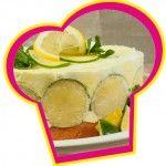 Frisse+citroen/limoen+ijstaart