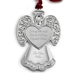 personalized angel ornament add your message for my sister
