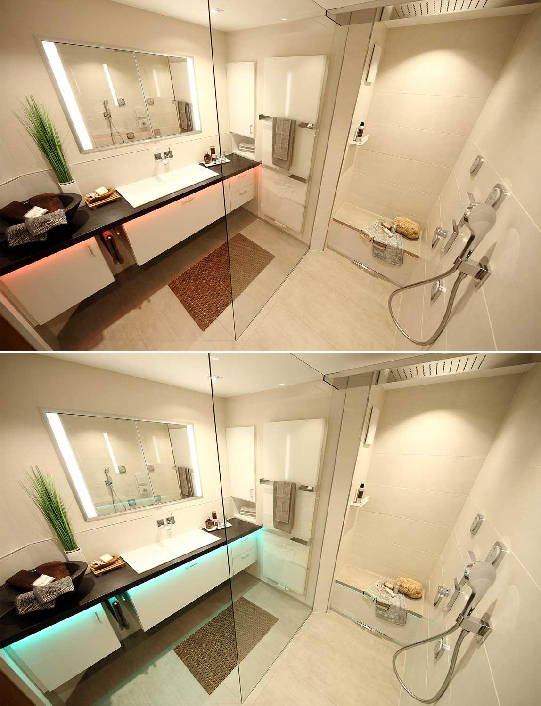 HEIMWOHL Badezimmer   Badezimmer, Badgestaltung, Led lichtband