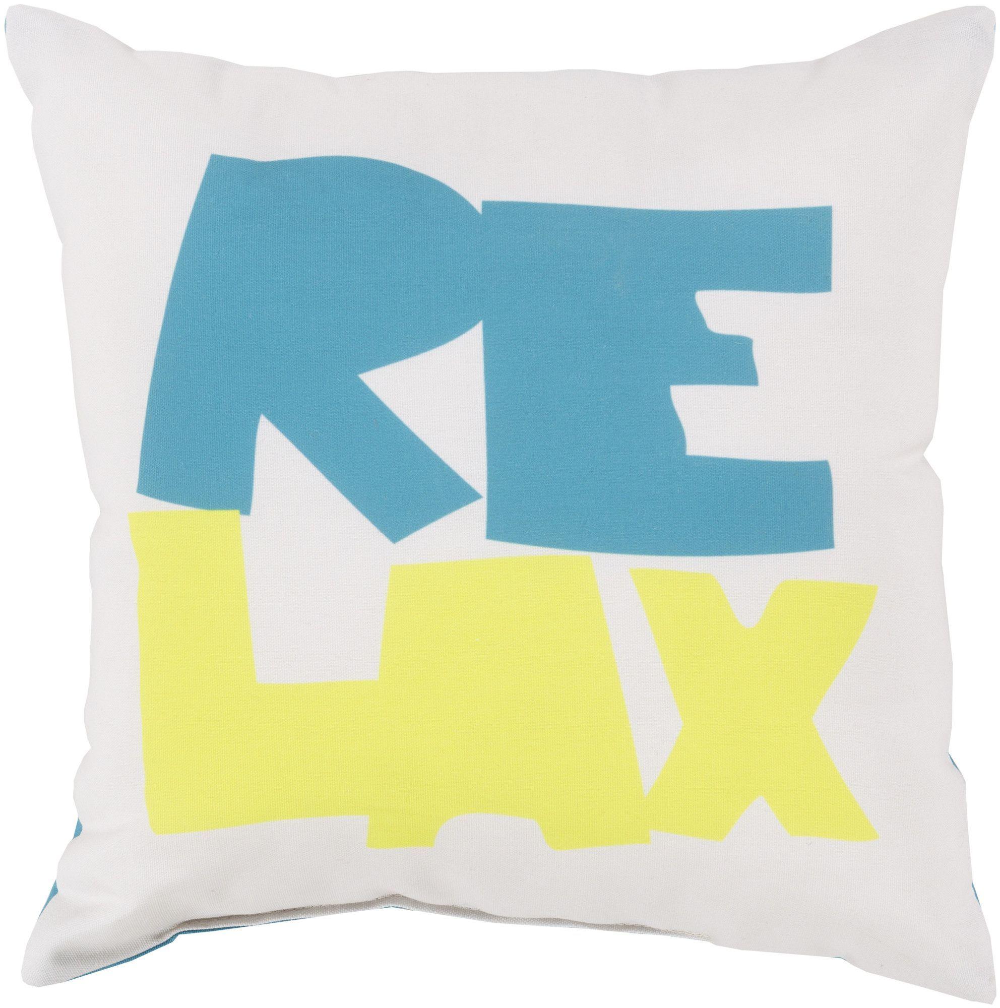 Rain Just Relax Outdoor Throw Pillow