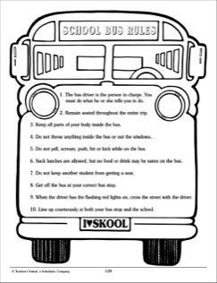 School Bus Rules School Bus Safety School Bus Bus Safety