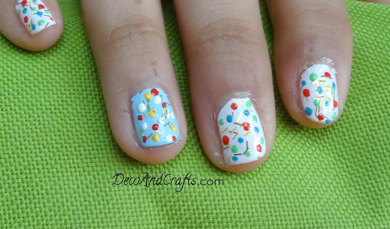 Easy Nail Art decoración de uñas facil video: http://youtu.be ...