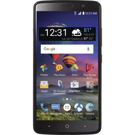 Straight Talk ZTE Max Blue 4G LTE Prepaid Smartphone-CDMA
