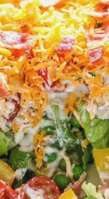 Ranch 7 Layer Salad Layered Salad Layered Salad Recipes Seven Layer Salad