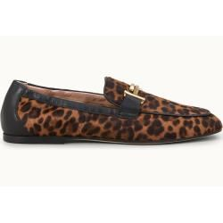 Tod's – mocasines de piel de caballo, dorado, negro, 35 – zapatos tod's