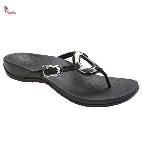 Spielraum Shop-Angebot Erkunden Günstigen Preis Vionic Womens IN340 Islars Black Leather Sandals 38 EU P74hO