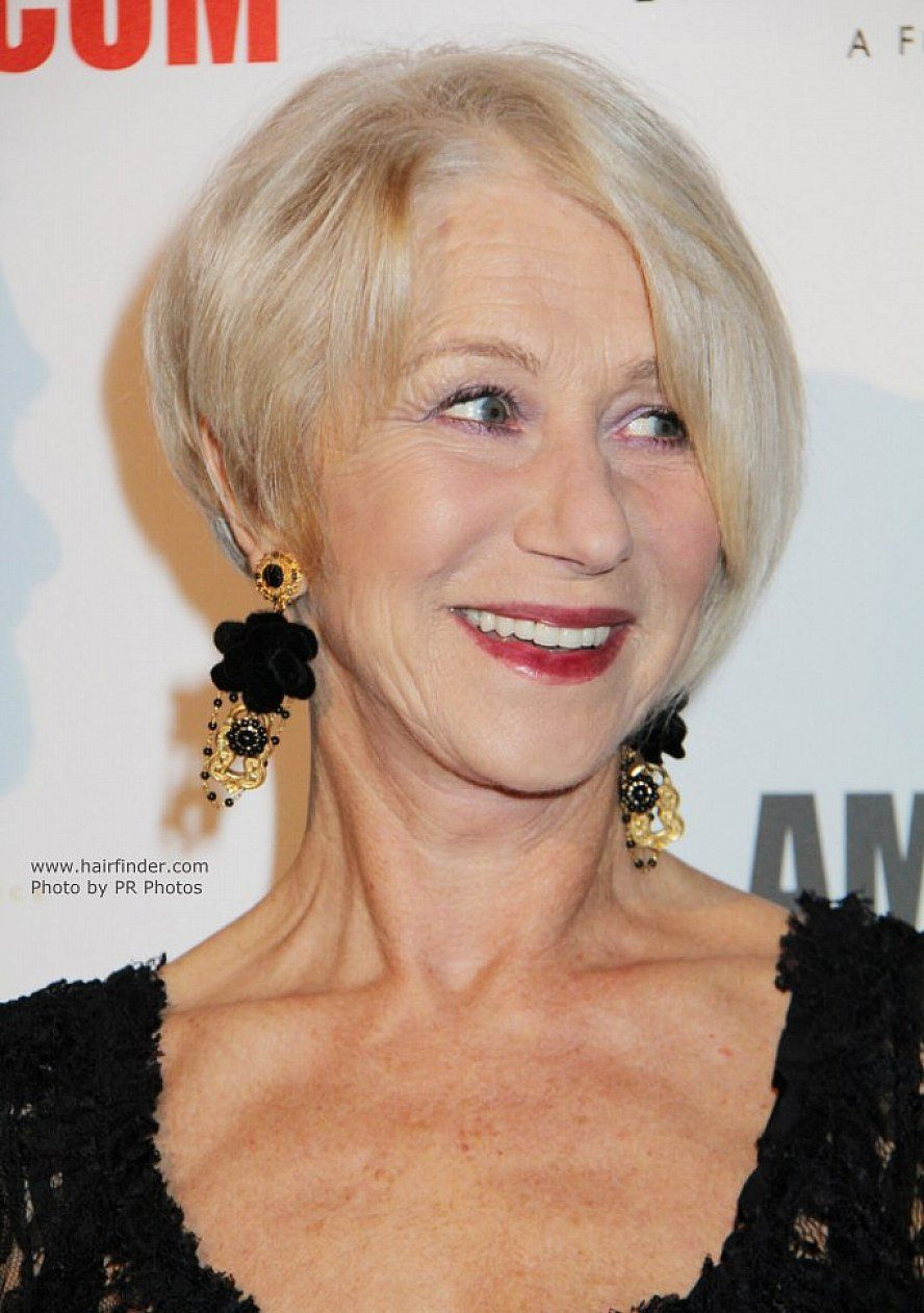 blonde short hairstyles for women over 60 with side bangs for fine