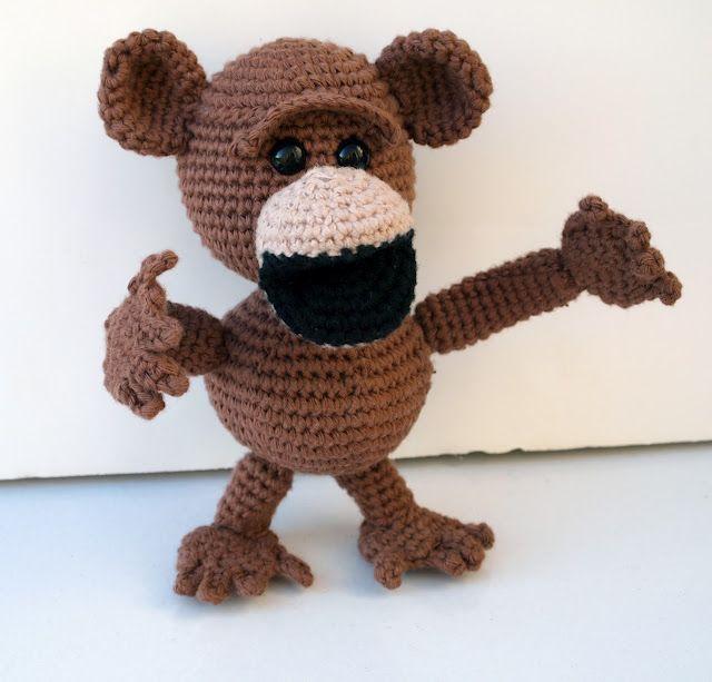 Free Amigurumi Monkey Crochet Pattern Crochet Pinterest Monkey