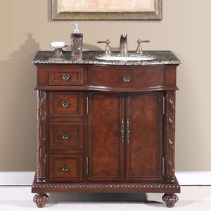Bathroom Cabinets 36 Inch 36-inch single bathroom vanity off center right sink stone top