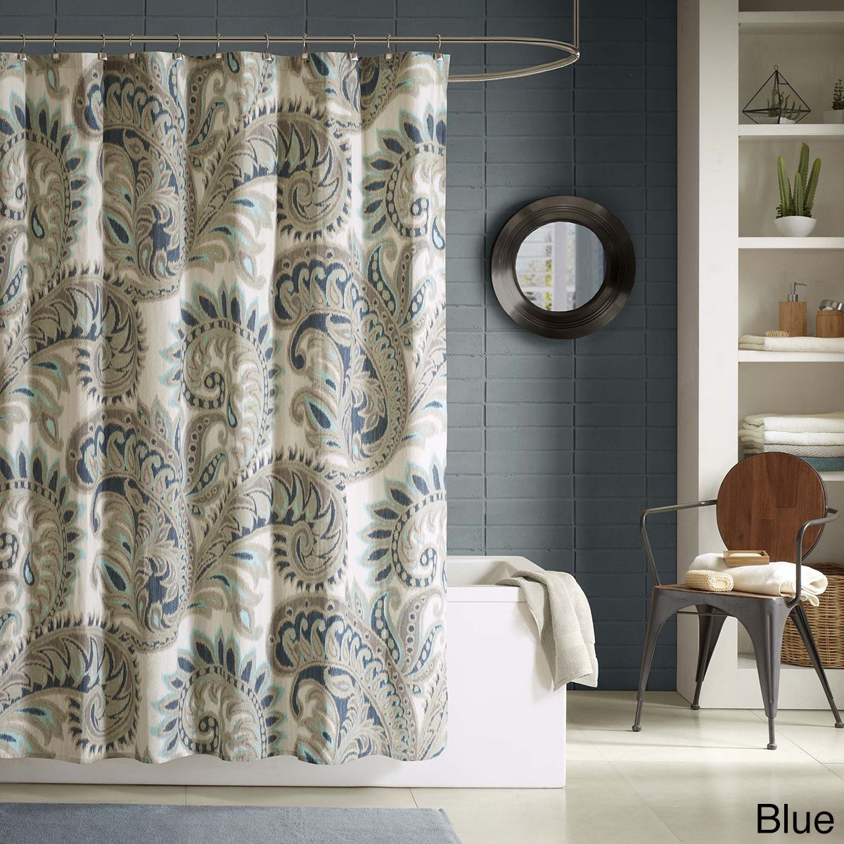 Ink+Ivy Mira Printed Shower Curtain - 2 color options