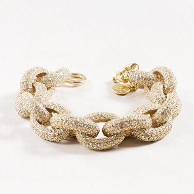 Classic pave link bracelet (J. Crew)