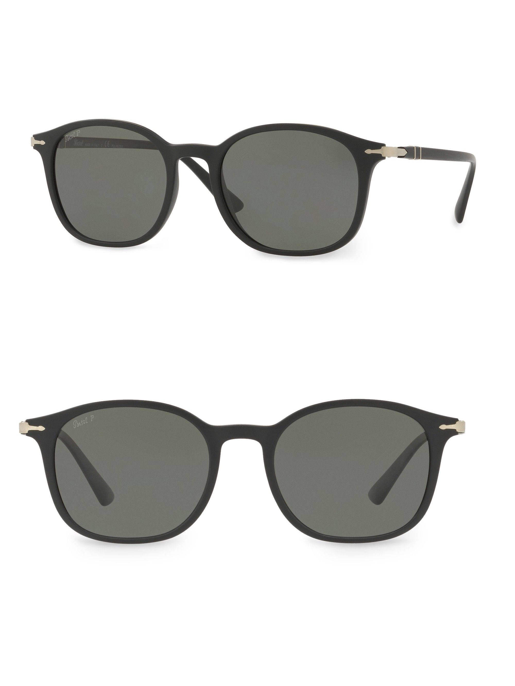 c5e9faefa3c2e Persol 54Mm Rectangle Sunglasses - Matte Black