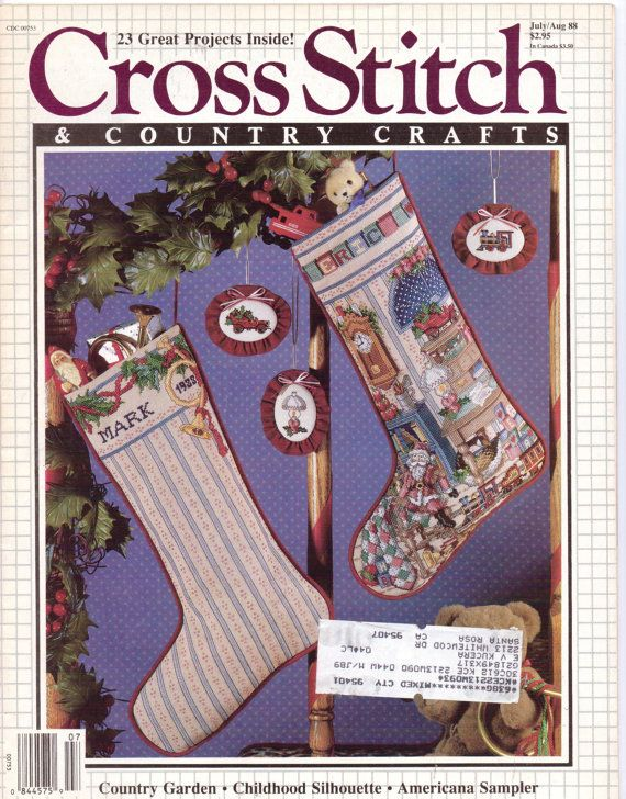 Vintage 80s Cross Stitch & Country Crafts Magazine by CloesCloset, $6.00