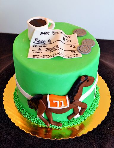 Horse Racing Birthday Cake Birthday cakes Horse and Cake