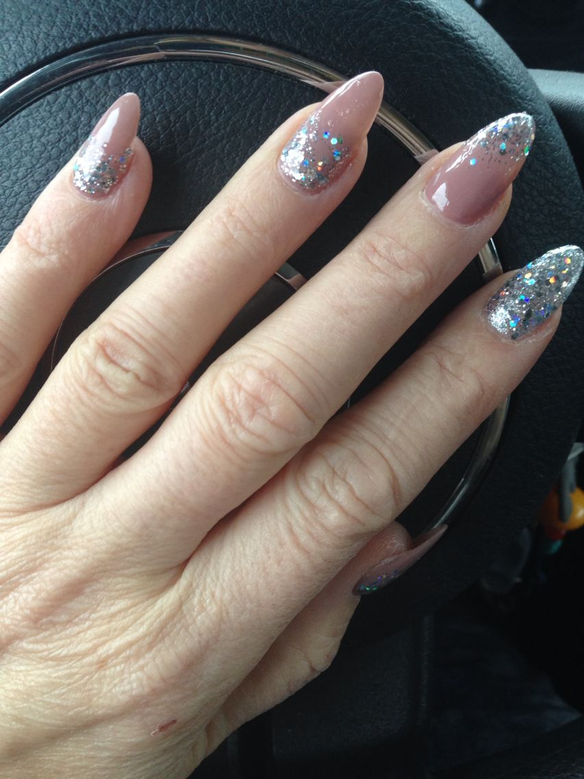 Almond New Years nails | Nails | Pinterest | Almonds and Birthday nails