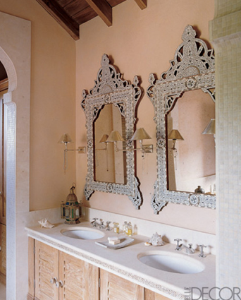A Pair Of Syrian Mother Of Pearl Mirrors For The Bath