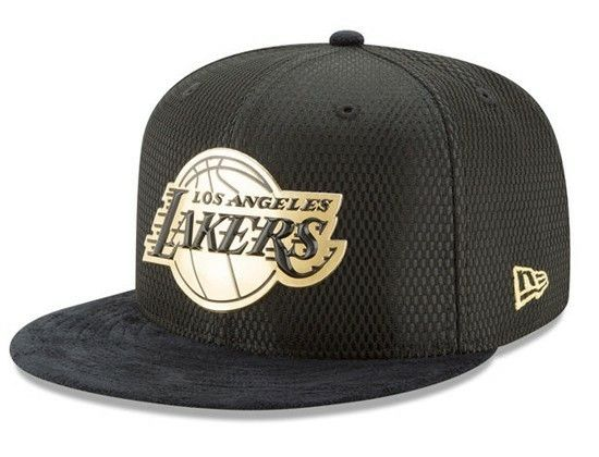 Los Angeles Lakers On-Court Black Gold 59Fifty Fitted Cap by NEW ERA x NBA 0ce96b66818d