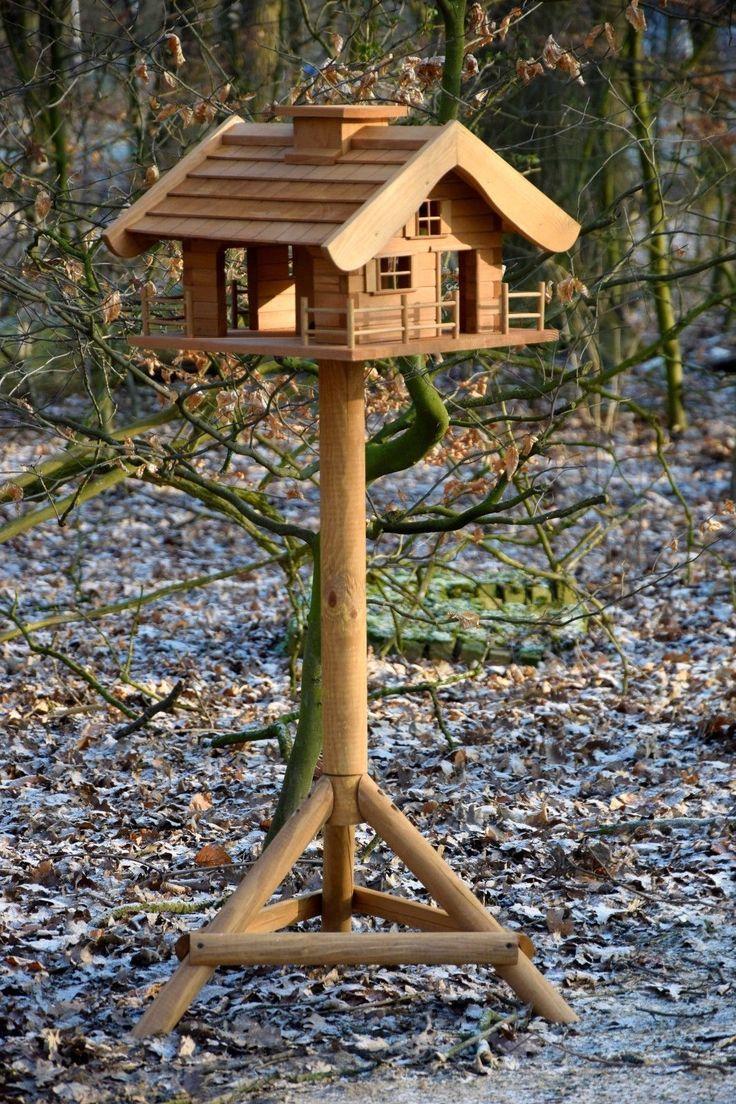 Bird House Bird Feeder Stand Blockhouse Style XXL Large Feeder House Wildvöge ... , #vogelhäuser ...