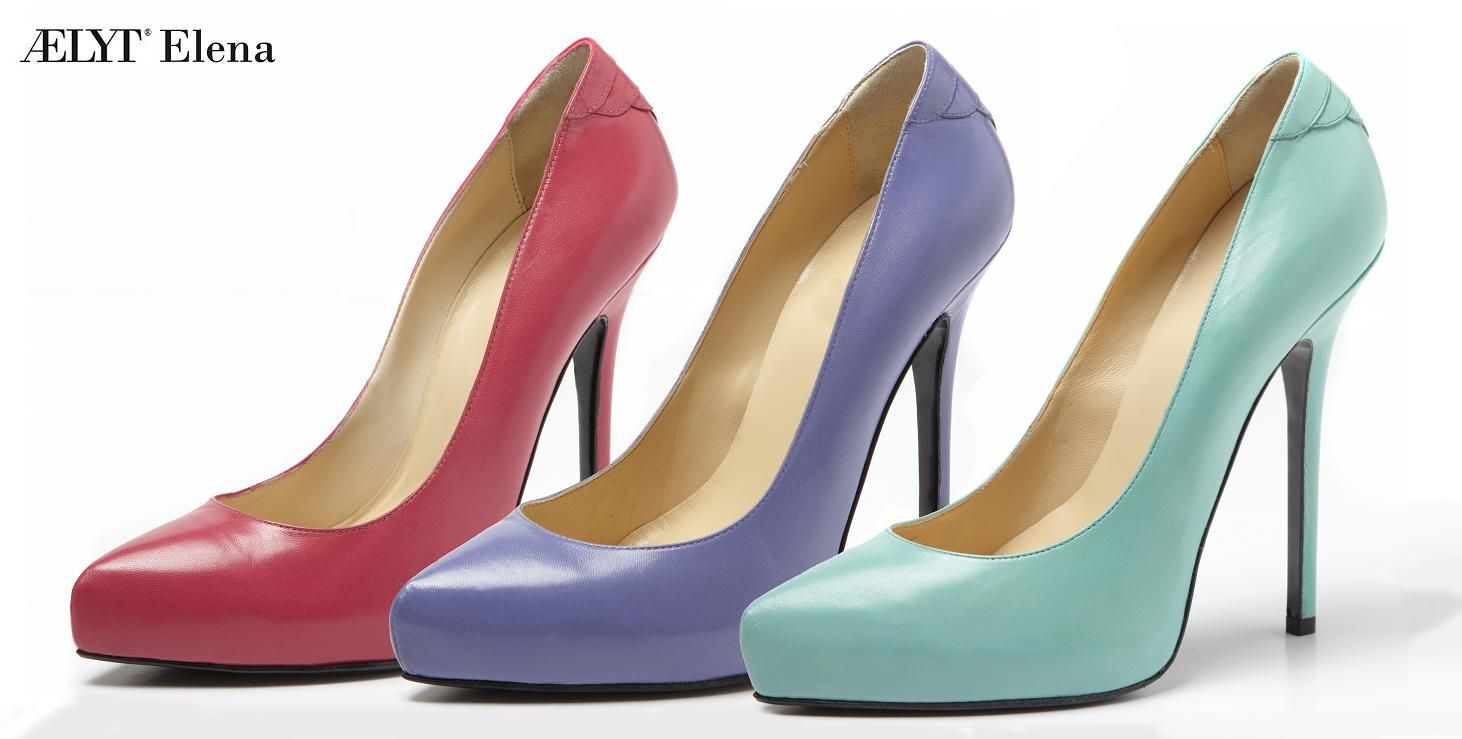 ÆLYT Elena, arrow tip pump with platform, customizable, handmade in italy with genuine leather.