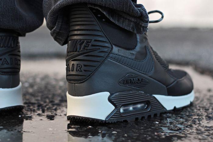 newest 2c086 da661 nike-air-max-90-winterized-sneakerboot-black-4   Footwear ...