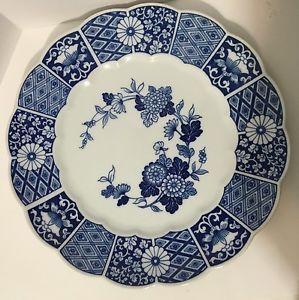 Rare Vintage Lipper Mann 12 Blue Imari Platter Chop Plate Marked