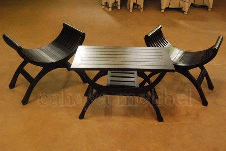 Kursi Teras Yuyu Minimalis Kayu Jati  #KursiTeras Kursi Teras Yuyu Minimalis Kayu Jati #furnitureonlinestore