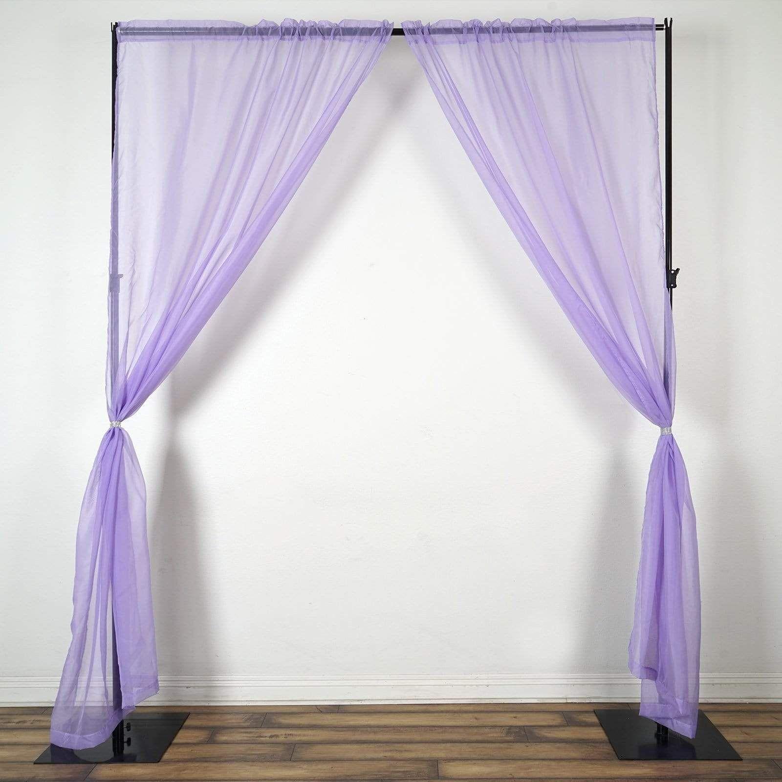 2 pcs 9 feet Sheer Organza Backdrops Curtains Drapes Panels - Lavender in  2021 | Panel curtains, Drapes curtains, Curtains