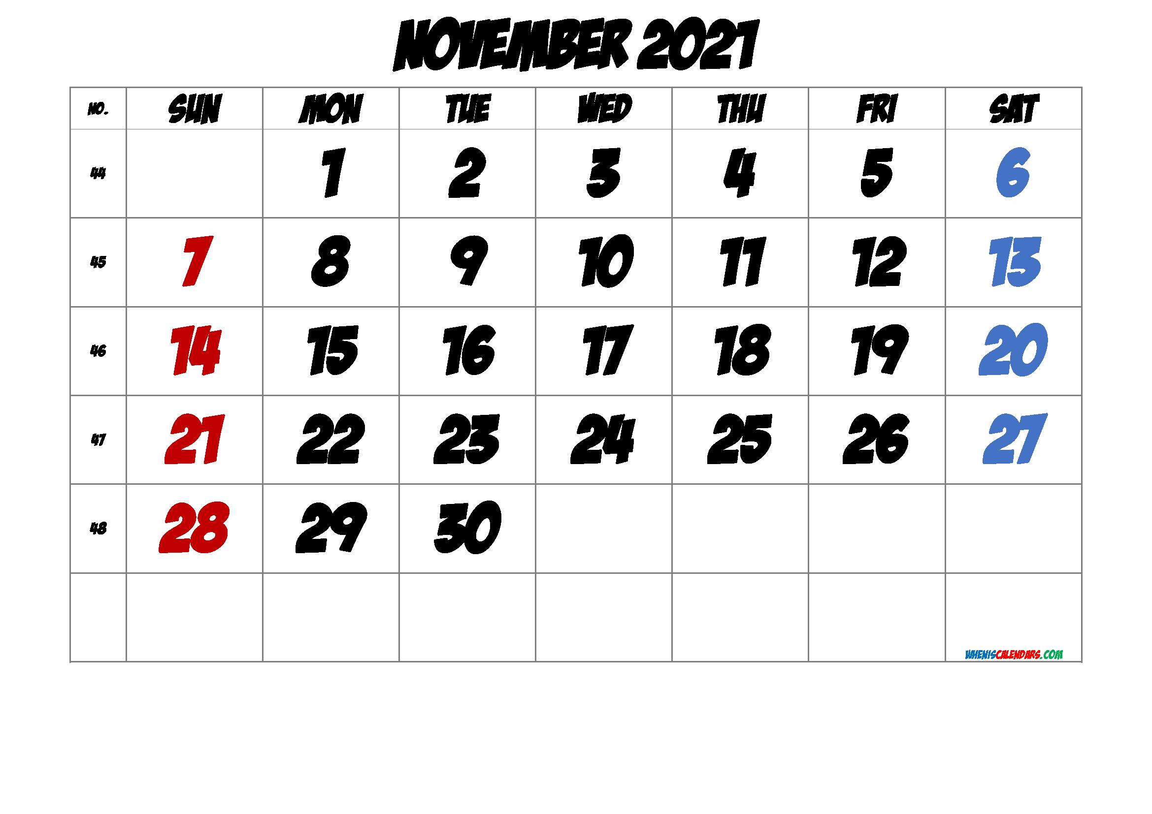 Free November 2021 Calendar Free Premium In 2020 June Calendar Printable 2021 Calendar Printable Calendar July