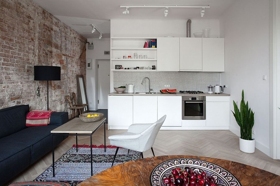 Lovely Small Private Apartment In Warsaw Gets A Bright And Cheerful Makeover Nice Ideas